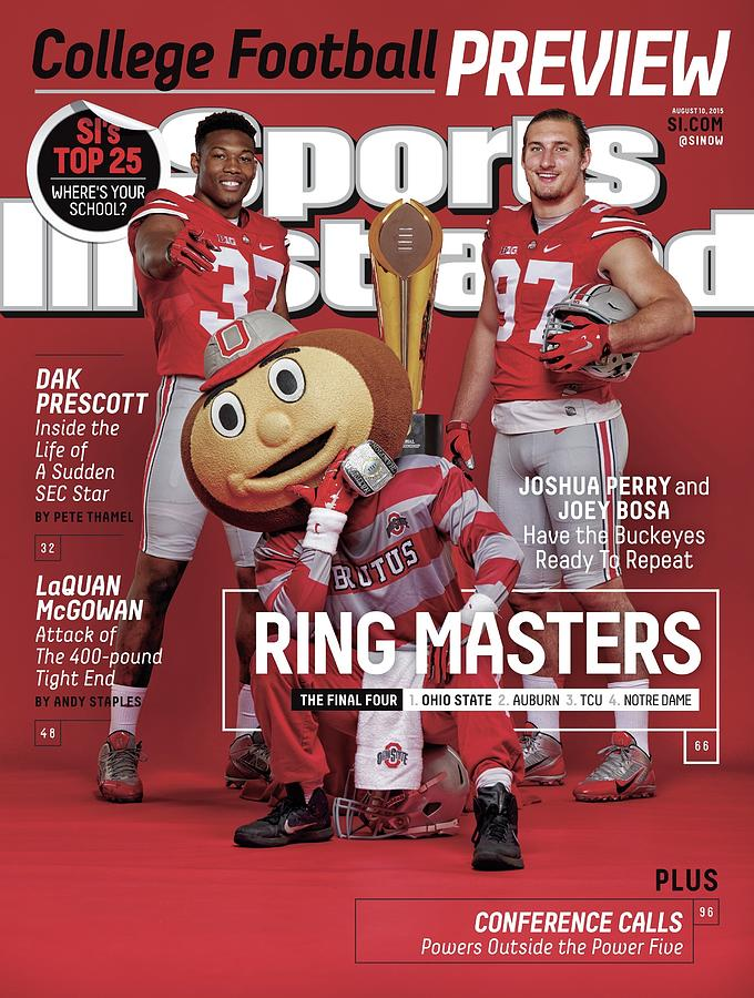 Ring Masters 2015 College Football Preview Issue Sports Illustrated Cover Photograph by Sports Illustrated