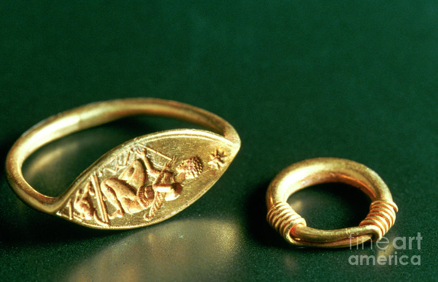 Ring With Inscription, Jewelery Drawing by Print Collector