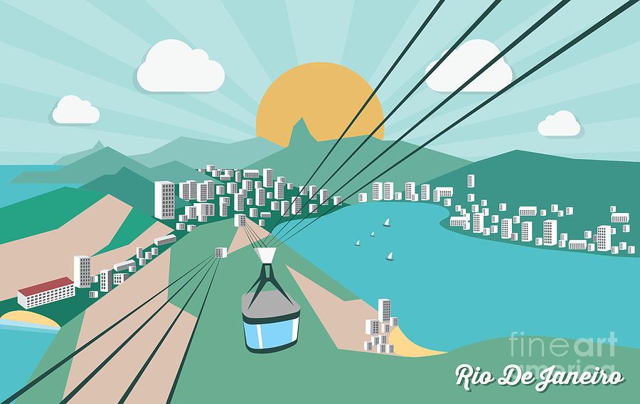 De Digital Art - Rio De Janeiro - Vector Illustration by Petrovic Igor