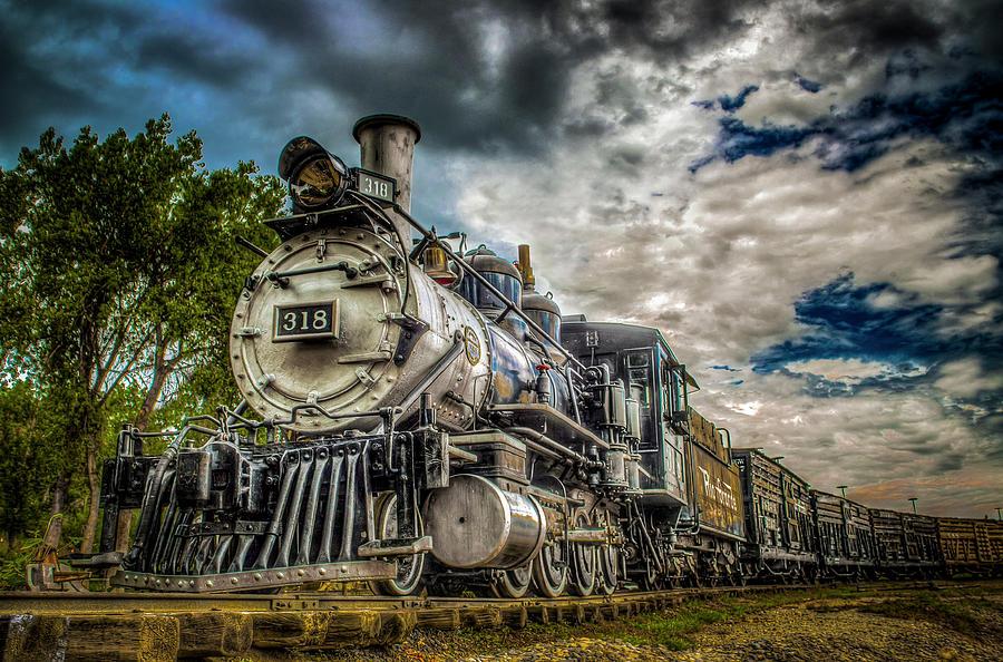 Railroad Photograph - Rio Grande Engine #318 by G Wigler