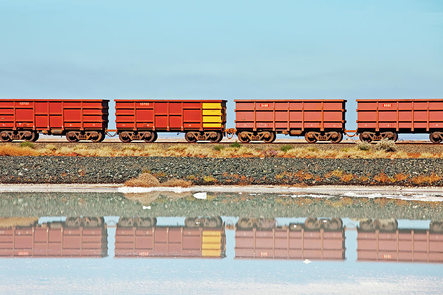 Rio Tinto , Salt Production,port Photograph by John W Banagan
