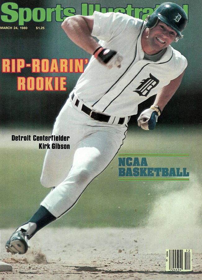 Rip-roarin Rookie Detroit Centerfielder Kirk Gibson Sports Illustrated Cover Photograph by Sports Illustrated