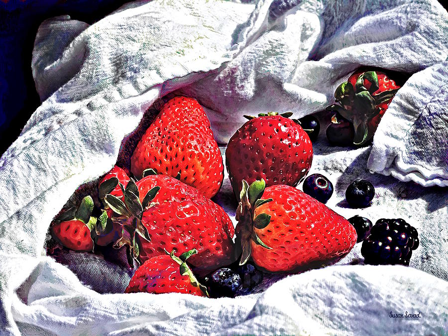 Ripe Strawberries by Susan Savad