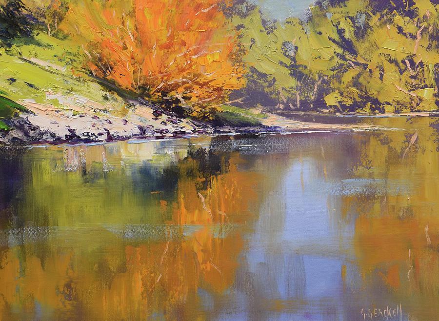 River Bank Reflections Painting