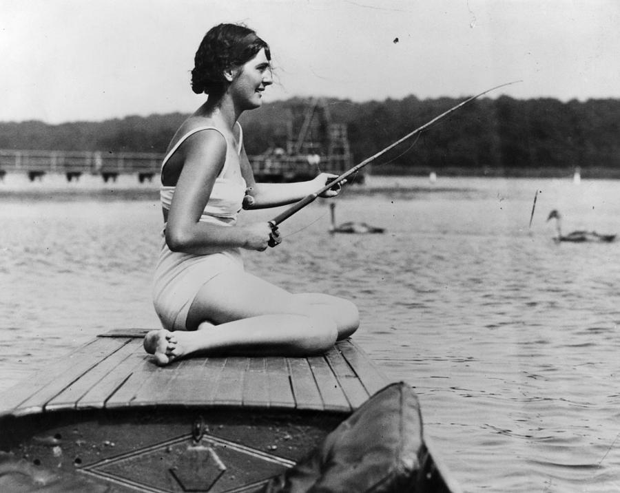 River Fishing Photograph by Hulton Archive