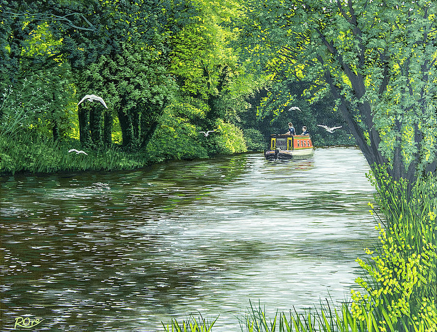River Kennet Painting by Raymond Ore