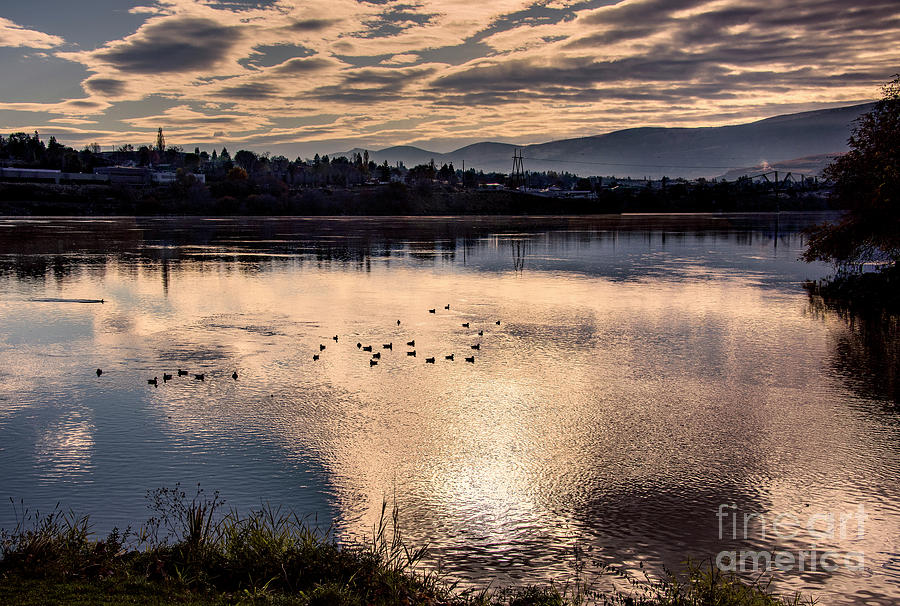 Prints Photograph - River Of Clouds by Mae Wertz