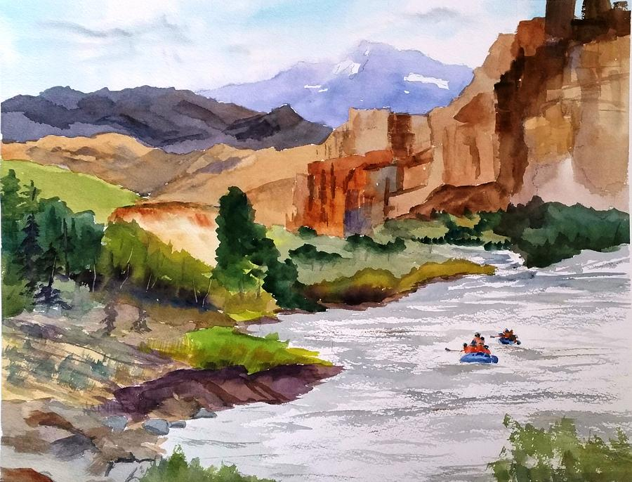 River Rafting in Montana by Larry Hamilton