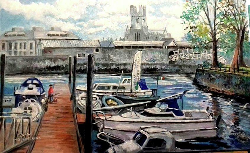 RIVER SHANNON LIMERICK IRELAND by PAUL WEERASEKERA