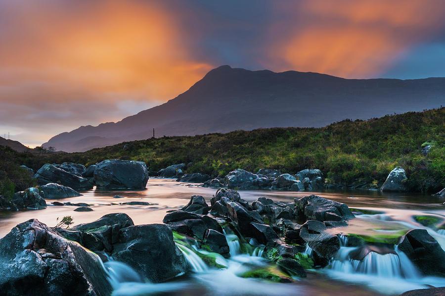 Britain Photograph - River Torridon and Sgurr Dubh, sunrise by David Ross