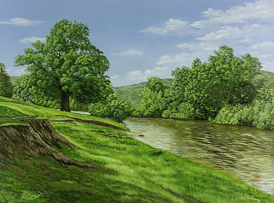 River Usk Painting - River Usk by Raymond Ore