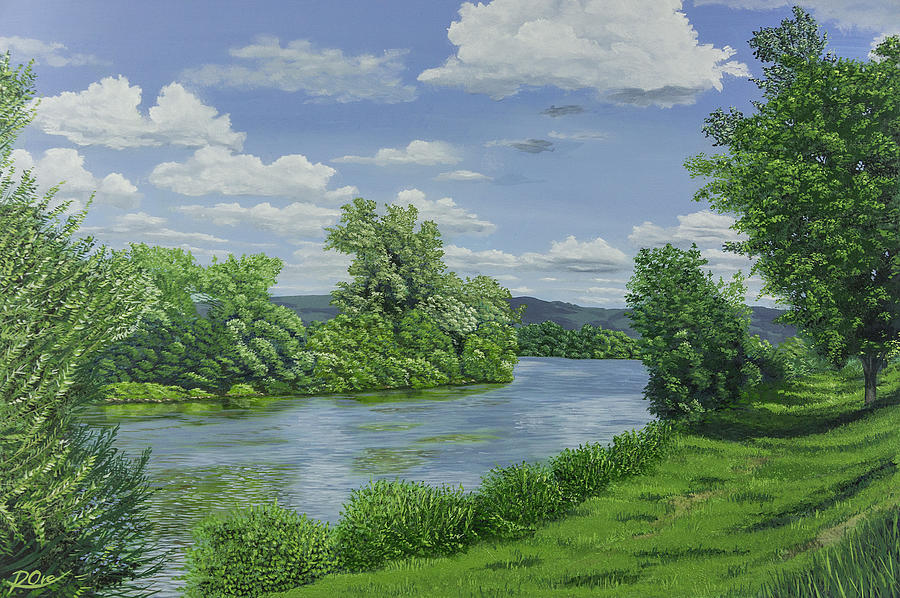 Riverscape Painting - River View 2 by Raymond Ore