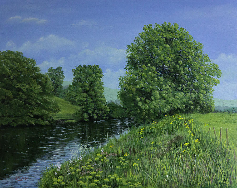 River Painting - River View by Raymond Ore