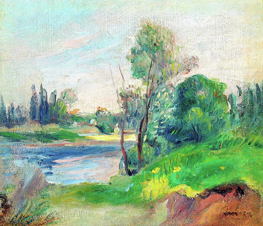 Pierre-auguste Renoir Painting - Riverbank - Digital Remastered Edition by Pierre-Auguste Renoir