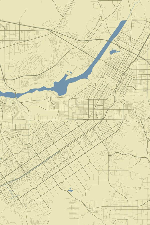 Riverside California Usa Classic Map