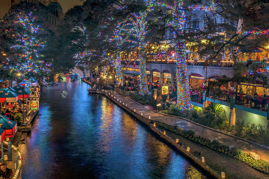 Riverwalk Christmas Lights by Steven Sparks
