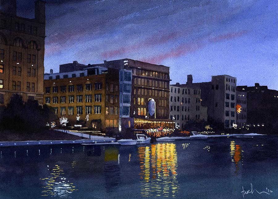 Riverwalk Nocturne by James Faecke