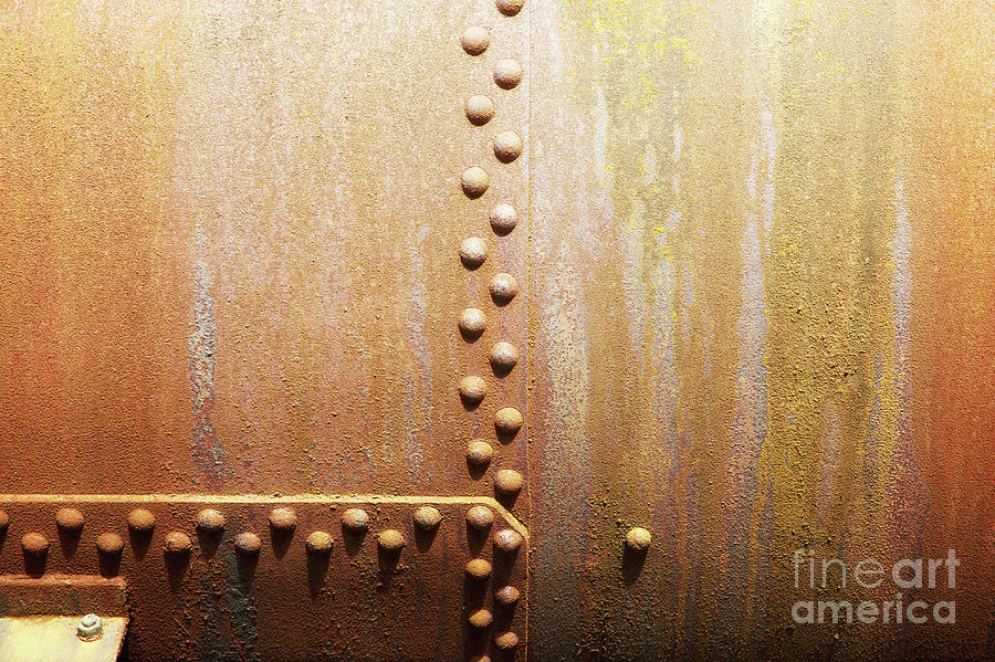 Rivets On Steel Plates Photograph