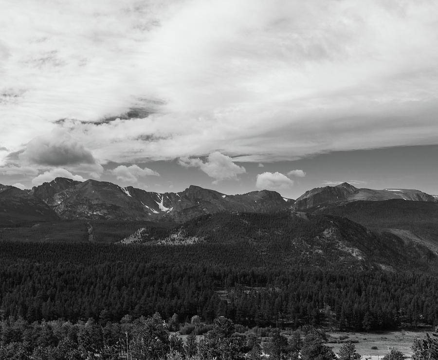 Rocky Mountains Photograph - Rmnp1-bw by John Goodrow