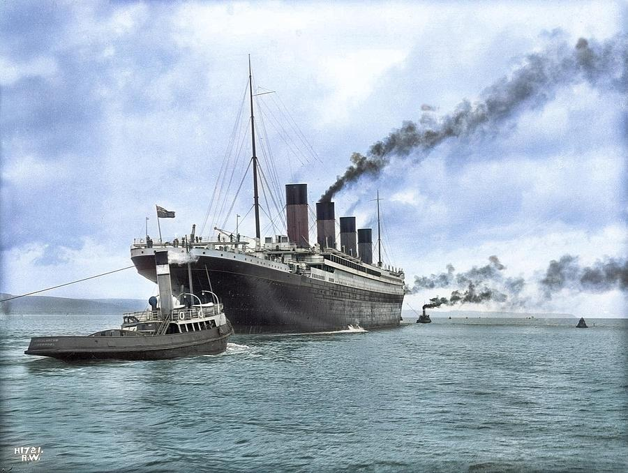 TITANIC 25 AND OLYMPIC BELFAST MARCH 5th 1912 ART PRINT KEYRINGS-MUGS-ART PRINT