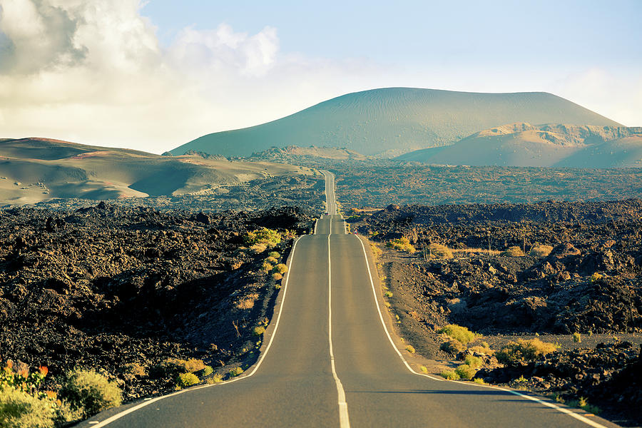 Road In Timanfaya National Park, Canary Photograph by Zodebala