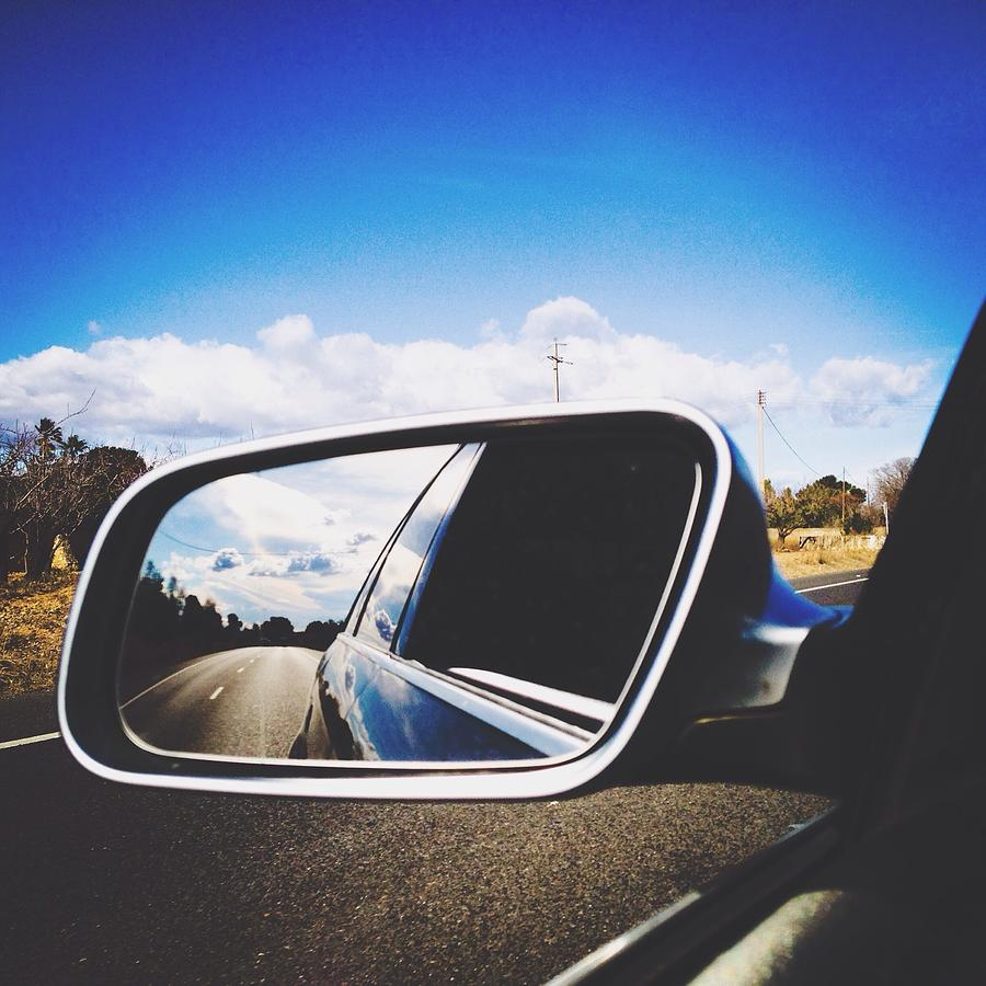Road Reflecting On Side-view Mirror Photograph by Jessica Gimenez / Eyeem