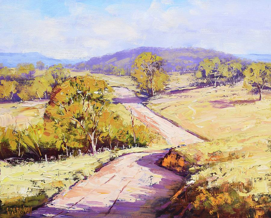 Road Through Kanimbla Painting