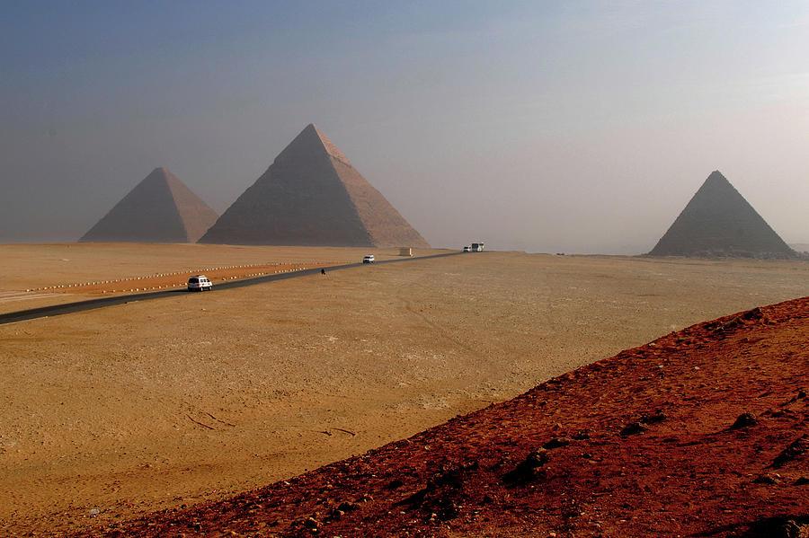 Road To Great Pyramids Photograph by Bijan Choudhury