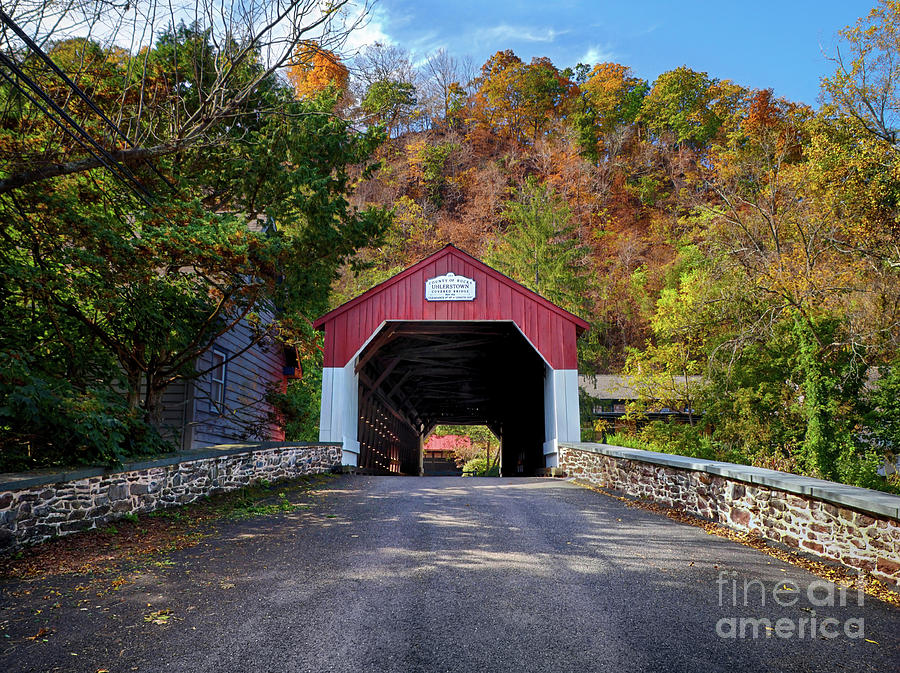 Road to Uhlerstown Covered Bridge by Mark Miller