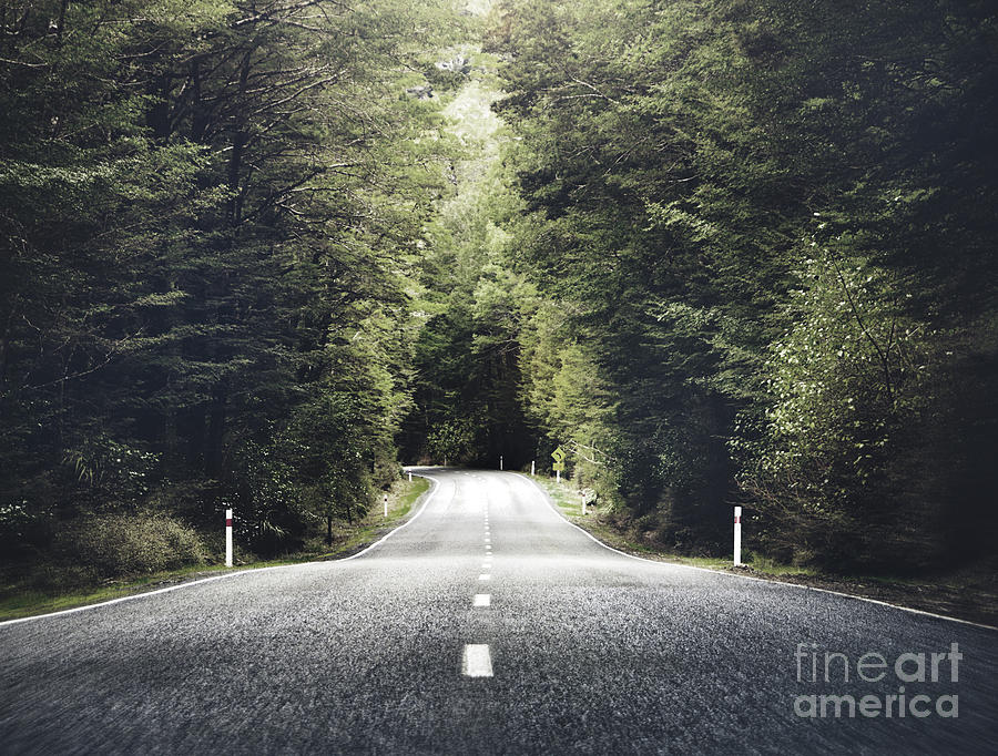 Country Photograph - Road Travel Journey Nature Scenic by Rawpixel.com