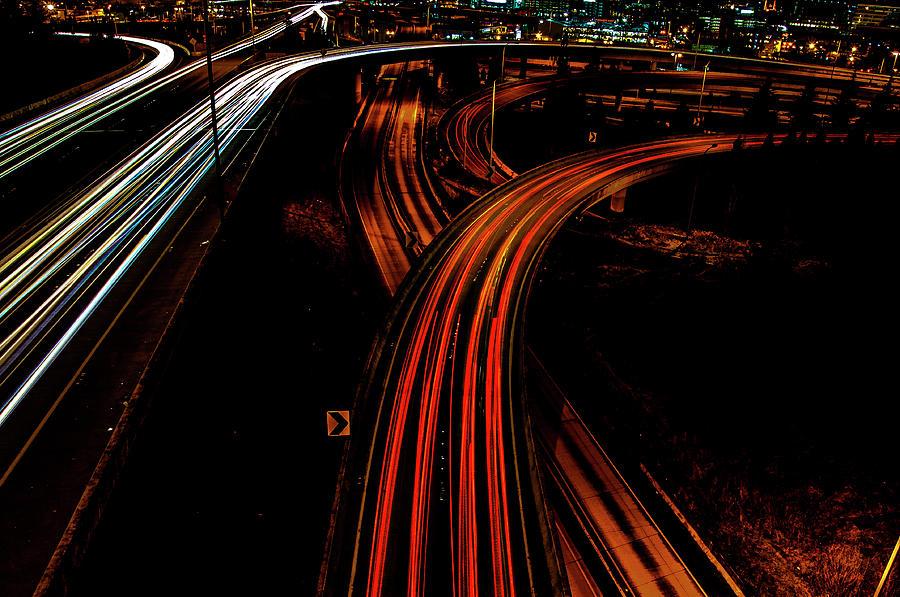 Roads at Night by Pelo Blanco Photo