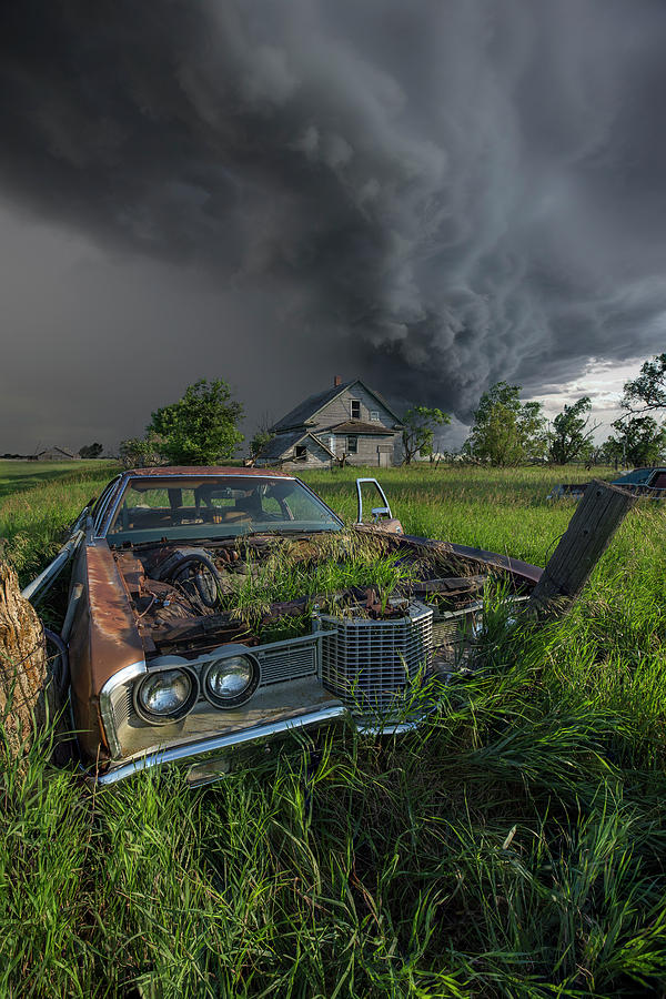 Thunderstorm Photograph - Roads End  by Aaron J Groen