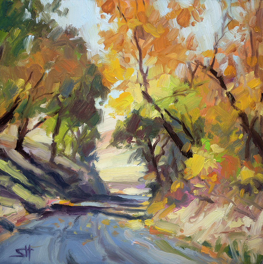 Autumn Painting - Roadside Attraction by Steve Henderson