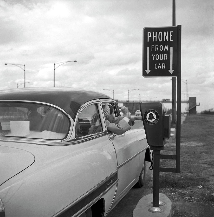 Roadside Public Telephone Photograph by Underwood Archives