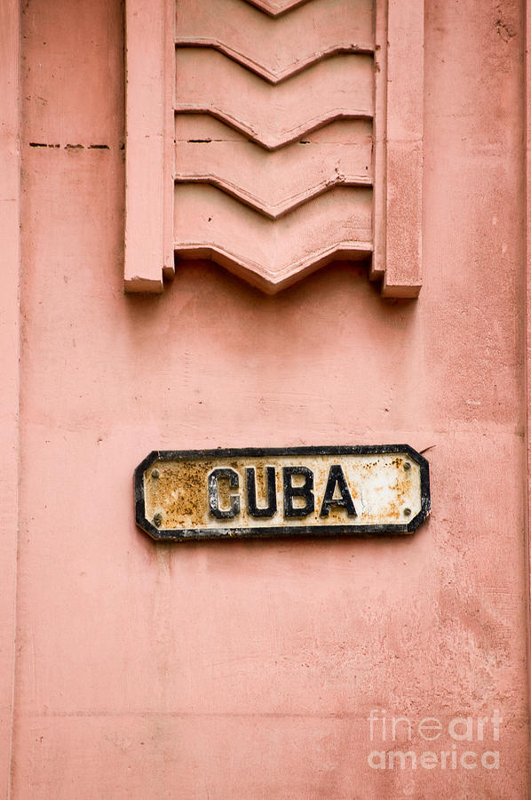 Image Photograph - Roadsign In Havana, Cuba For A Street by Basphoto