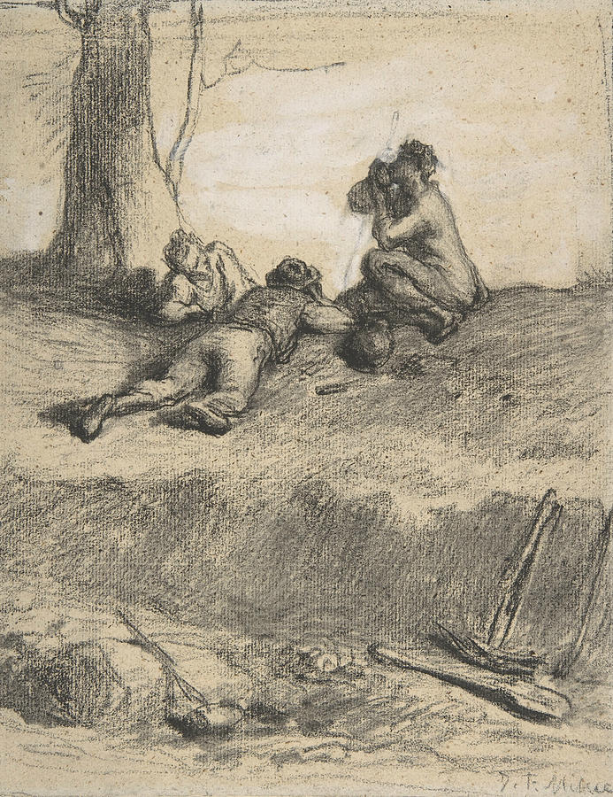 Roadworkers at Lunch by Jean-Francois Millet