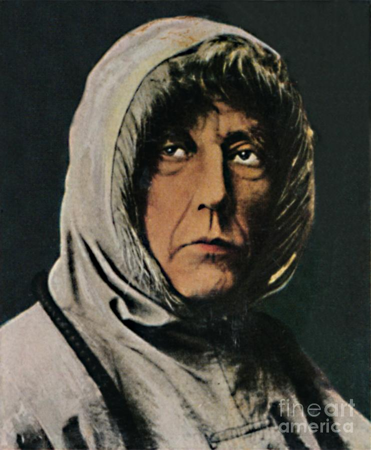 Roald Amundsen 1872-1928 Drawing by Print Collector