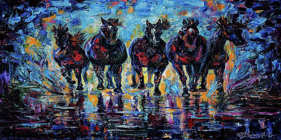 Roaming Free Horses by OLena Art - Lena Owens