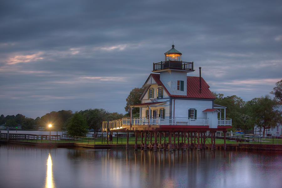 Roanoke River Light House 3 by Pete Federico