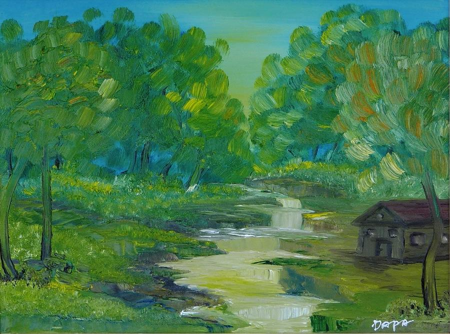Roar On The River Painting