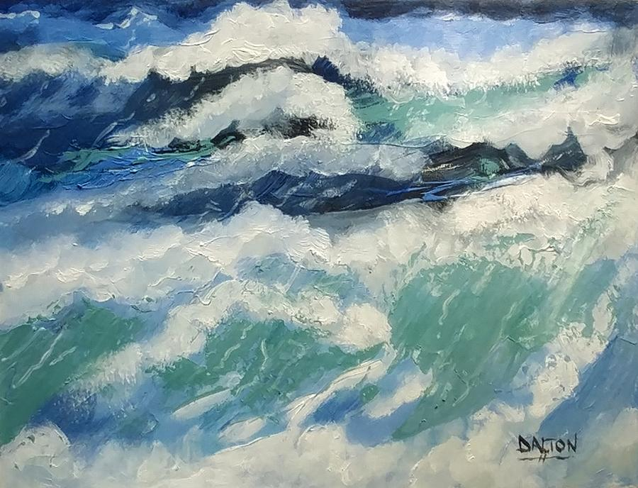 Ocean Painting - Roaring Ocean by George Dalton