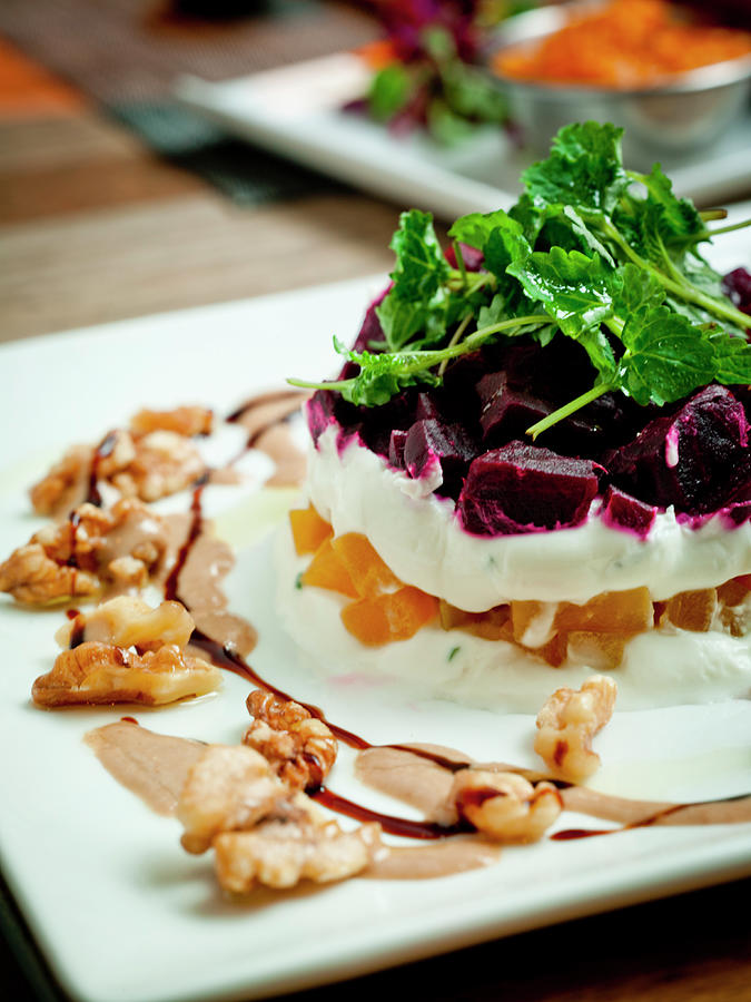 Roasted Beet Salad Photograph by Joe Vaughn