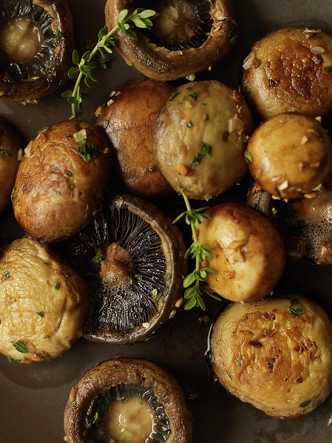 Roasted Mushrooms With Thyme Photograph by James Baigrie