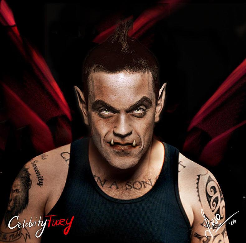 Robbie Williams Digital Art - Robbie Williams by Queso Espinosa