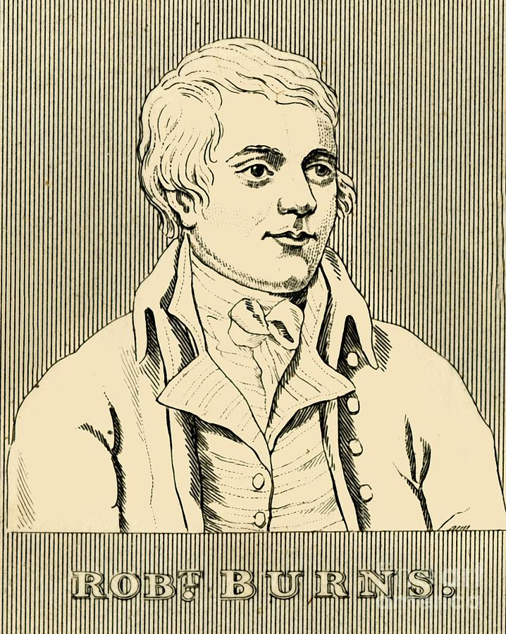 Robert Burns Drawing by Print Collector