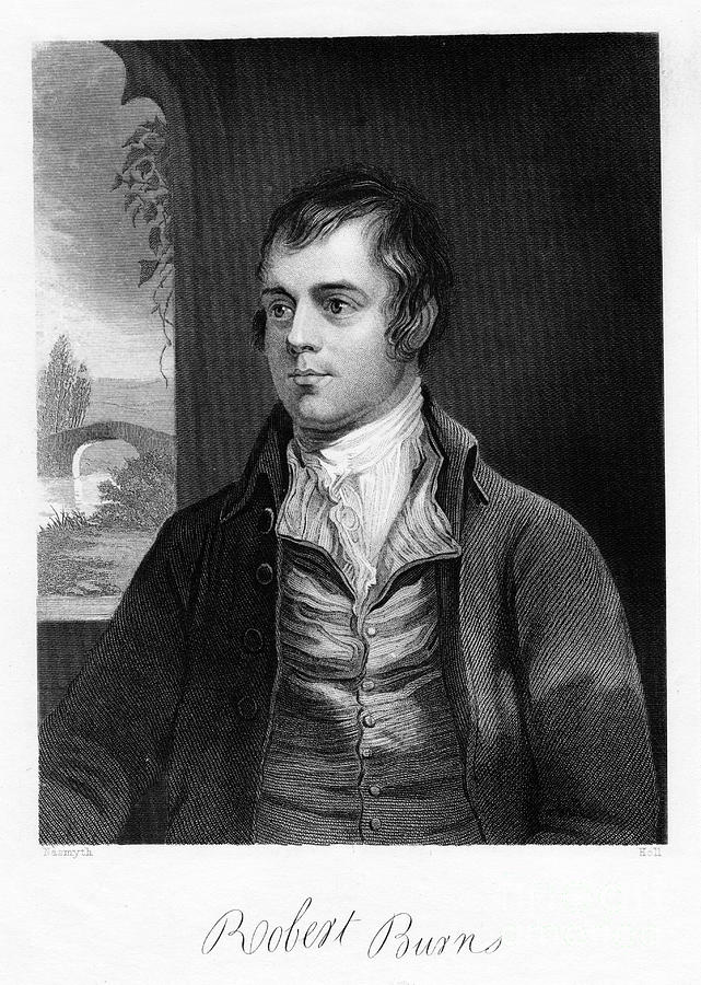Robert Burns, Scottish Poet, Late 18th Drawing by Print Collector