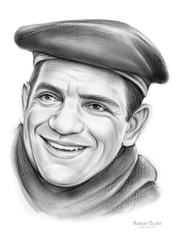 Pencil Drawing - Robert Clary by Greg Joens