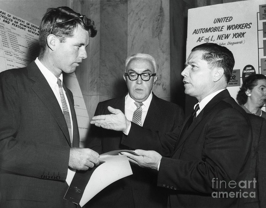 Robert F. Kennedy And Jimmy Hoffa Photograph by Bettmann