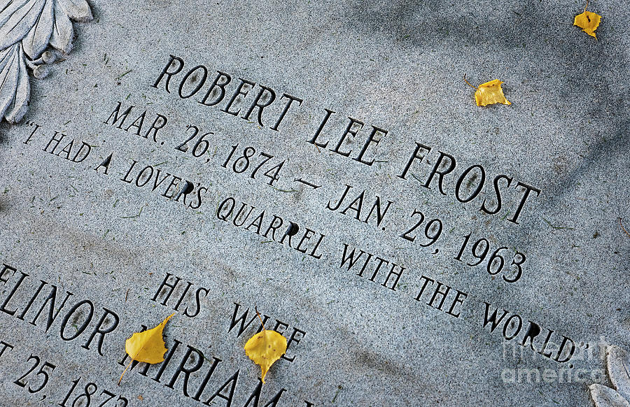 Robert frosts grave photograph by garry gay