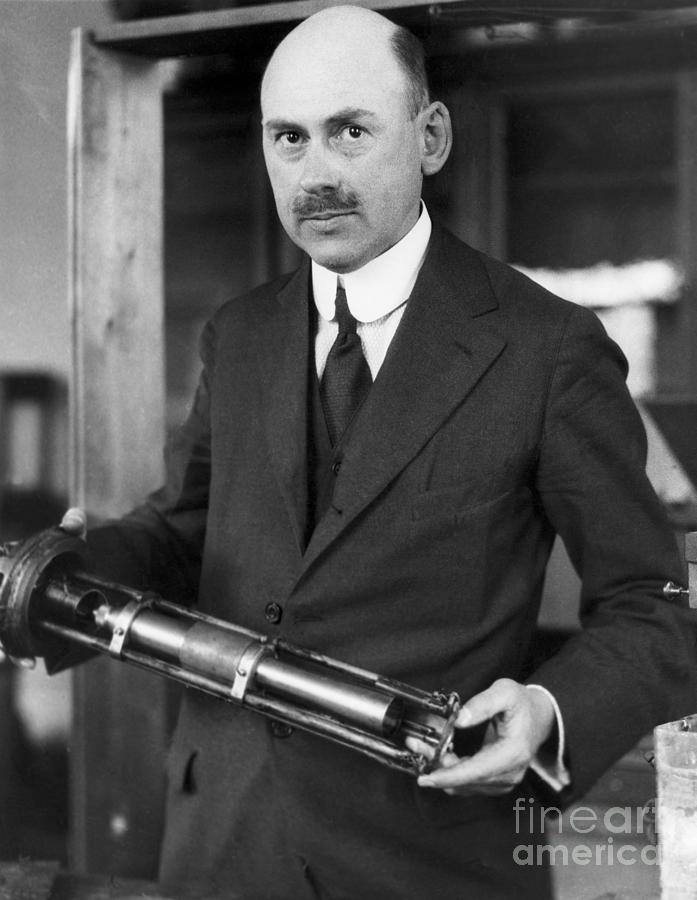 Robert H. Goddard With First Rocket Photograph by Bettmann